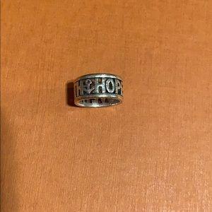 Hope, faith, love James Avery Ring